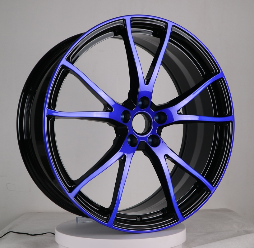17-22 inch customize pepsi color 1 piece  forged alloy car wheel rim